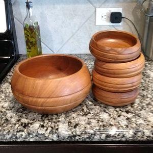 Wooden salad set